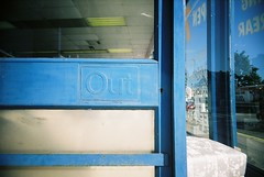 out (knautia) Tags: door uk england film out bristol fuji ishootfilm september bedminster vivitar 2007 northstreet fujicolor fujipro160c 160iso vivitarultrawideslim vivitarroll13