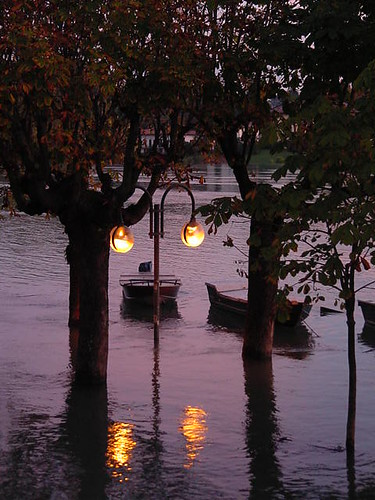 Ticino river flood