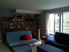 living room, NW corner from SE