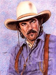 Yet More Cowboy Tom Selleck - In CRAYON