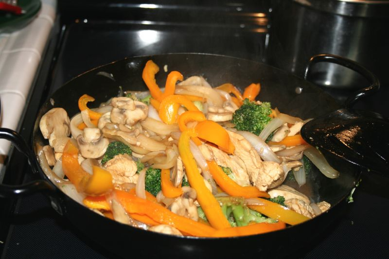 Fall Stirfry in Wok