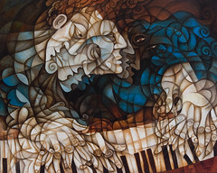 Man at Piano (Paul N Grech) Tags: music art painting movement energy piano jazz kinetic soul passion classical pianist mozart oilpainting cubist vibe cubism liszt vladimirhorowitz sergeirachmaninoff alfredcortot josefhoffman arturobenedettimichelangeli paulgrech fredricchopin walterwilhelmgieseking