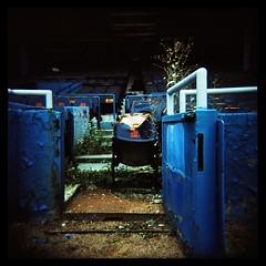 'Premium' Seat No. 1 (Ralph Krawczyk Jr) Tags: blue light orange black color green abandoned 6x6 metal dark xpro weeds mood shadows baseball decay crossprocess seat toycamera lofi ishootfilm plastic growth dirt squareformat torn tigerstadium gravel derilict detroittigers expiredfilm 313 detroitmichigan holga120n allrightsreserved 120mediumformat ralphkrawczykjr kodakektachrome400x tigers9282007