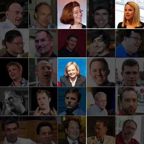 25 most influential (wo)men on the web.