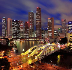 Uniquely Singapore (Mel Mijares) Tags: bridge tourism marina boat yahoo google bars singapore restaurants tourist explore entertainment wikipedia cbd boatquay clarkequay 1740f4l uniquelysingapore elginbridge nonhdr singaporeskyscrapers 5dmkii