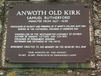 Anwoth Old Kirk - Samuel Rutherford, Minister