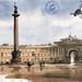 С-Петербург. Дворцовая Площадь,2004, бум.акв. 13х25см