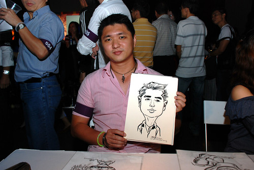 caricature live sketching for SDN First Anniversary Bash - 17