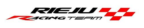 Logo Rieju Racing white