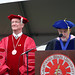 Richard Rush and Ted Lucas speaking at Commencement