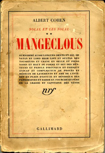 Mangeclous, by Albert COHEN