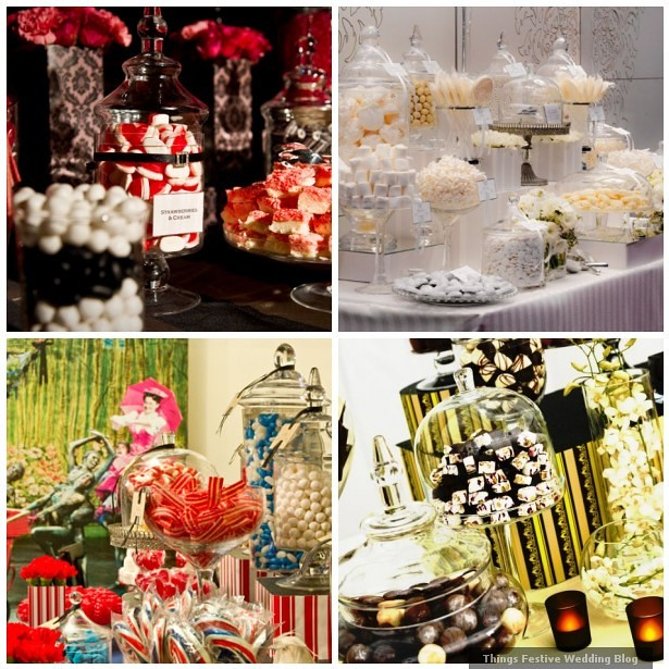 Wedding candy buffet ideas sophisticated styling things festive