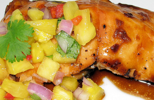 Salmon & Pineapple Salsa1
