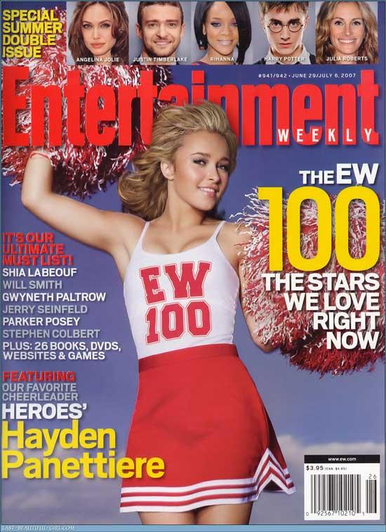 Hayden Panettiere EW Couverture