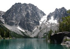 Lake Colchuck and Dragontail Mountain (Pictoscribe - Home again) Tags: lake turquoise lakes alpine jade cascades wilderness leavenworth usfs colchuck pictoscribe