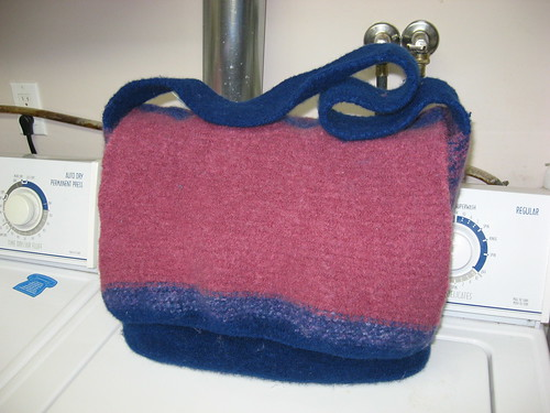 felted book bag