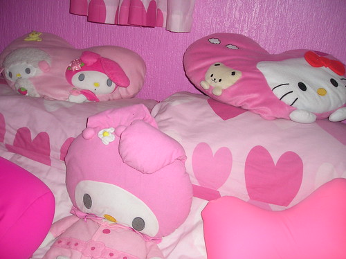 Hello Kitty sweet pink for Valentines's girl room decor.