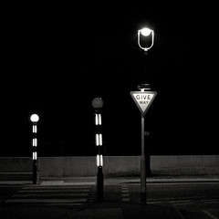 no-one stays up for you (no name slob) Tags: uk bw wales streetlights morrissey zebra giveway llandudno latenightmaudlinstreet lyricalallusion theparade top20signs