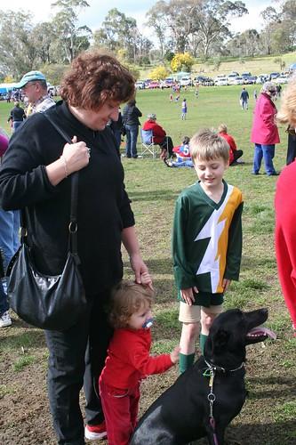 Barbara,Chloe, Bilaey the dog and Max