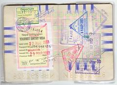 Passport - Nepal / Indonesia / Malaysia (Marc Broens) Tags: 2003 nepal indonesia malaysia passport visa visum scannedimage