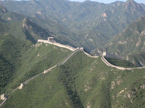 the Great Wall from space.