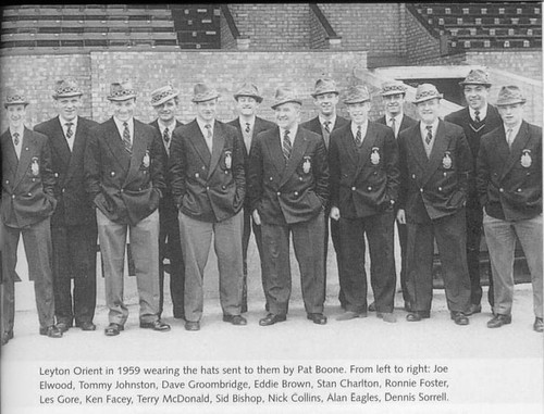 The team 1959 with hats from Pat Boone