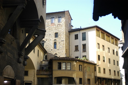 at the end of the Ponte Vecchio