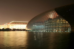 Beijing National Theatre I (China Chas) Tags: china architecture night beijing   tiananmen 1022mm nationaltheatre 2007 nationalday  paulandreu changanjie