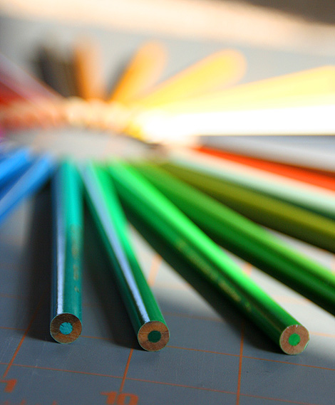 pencils as color wheel