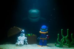 Sunken Lego pirate treasure (Sad Old Biker) Tags: pictures ocean desktop uk sea wallpaper england white brick swim canon poster geotagged skeleton toy photography one shark jones photo bed funny europe kevin treasure lego fig photos sale lol background teeth awesome chest great attack deep mini images best card booty photograph pirate bubble jaws buy bite series minifig sunken fin lmao ever coolest cutest sea1 collectable anthropomorphism davey anthropomorphic rofl minifigures poulton kevinpoulton sadoldbiker finniest