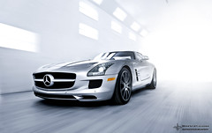 SLS Bright light (Nue Vue Photography) Tags: show street city travel light summer sky usa baby white david color sexy art cars love me nature car architecture dave clouds fun photography lights benz crazy cool nice interesting model nikon day florida miami live g south awesome dream fast first tunnel best led ii motor sharpie vue supercar sls beautifull amg nue gullwing nickerson wonderfull nvp d700 alubeam