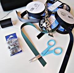 ribbon necklace DIY materials (...love Maegan) Tags: fashion diy ribbons howto accessories doityourself tutorials diyfashion ribbonnecklace statementnecklace fashiondiys ribbonnecklacediy howtomakearibbonstatementnecklace