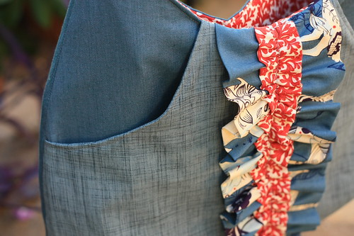 ruffle bag pocket
