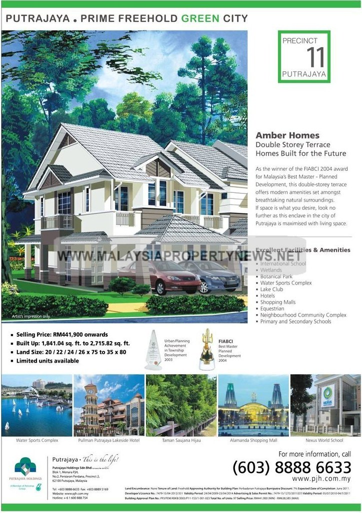 Precinct 11 Putrajaya Terrace homes for sale