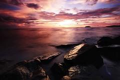 Sunset in Kota Kinabalu (king.arm) Tags: sunset seascape tourism beach beautiful canon landscape place visit tourist kotakinabalu serene sabah tanjung tanjungaru seascap