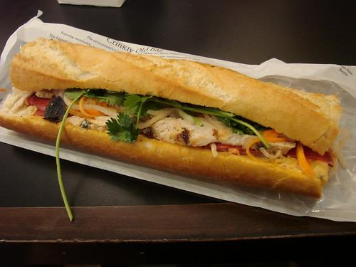 Vietnamese baguette unwrapped