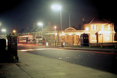 The Ship at night (John A King) Tags: night dark pub routemaster tardis rm theship policecallbox route53 plumsteadcommon