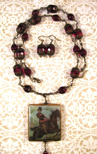 "2010 Holiday Collection - Victorian Romance ""Baroness"" Necklace and Earrings Set"