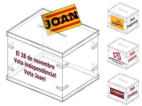 El 28N vota independència, vota Joan!