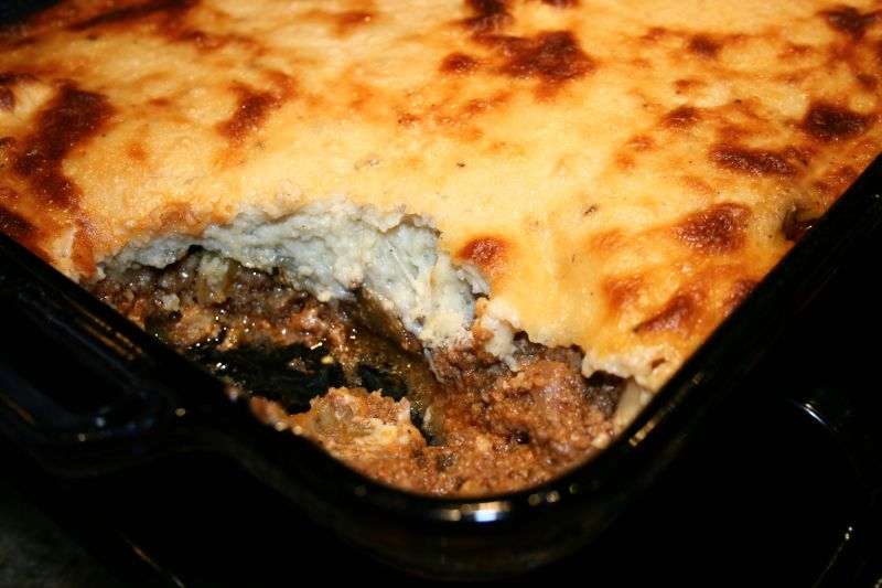 Moussaka layers