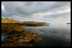 Eabost (tanera) Tags: blue seaweed skye beach water clouds reflections scotland cliffs cumulus minch anywhere lochbracadale superbmasterpiece wwwtaneracouk httptaneracouk