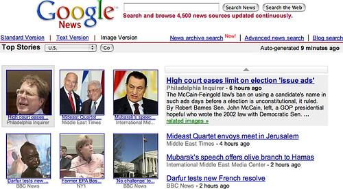 Google News Image Version