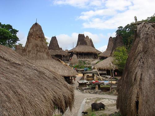 Looking from Waitabar towards Tarung, West Sumba at Waikabubak, Indonesia