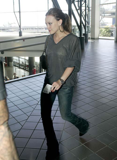 Hilary Duff at LAX