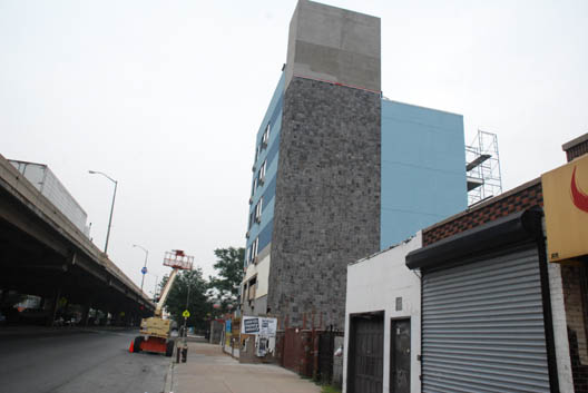 The BQE Rock Wall Building