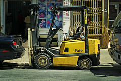 Little Beast #7 (moriza) Tags: street city nyc urban newyork yellow mechanical little 7 mo equipment beast yale heavy mohammad forklift moriza riza lavayette modomatic