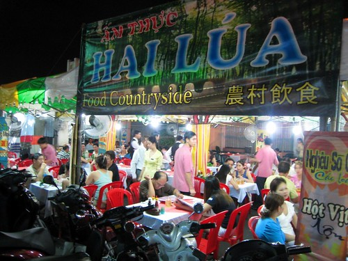 Street restaurant right next to Ben Thanh Market