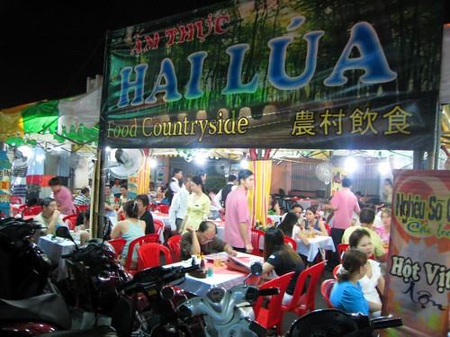 Street restaurant right next to Ben Thanh Market