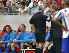 Gertjan Verbeek (SC Heerenveen) krijgt rood tegen Ajax