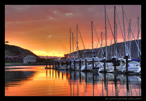 Tiburon Marina Sunrise - HDR